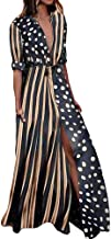 Morecome, Womens Boho Half Sleeve Wave Point Fashion Ladies Casual Evening Paty Long Dress