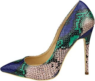 Snake Printing Women High Heels Fashion Party Wedding Sexy Pumps Shoes