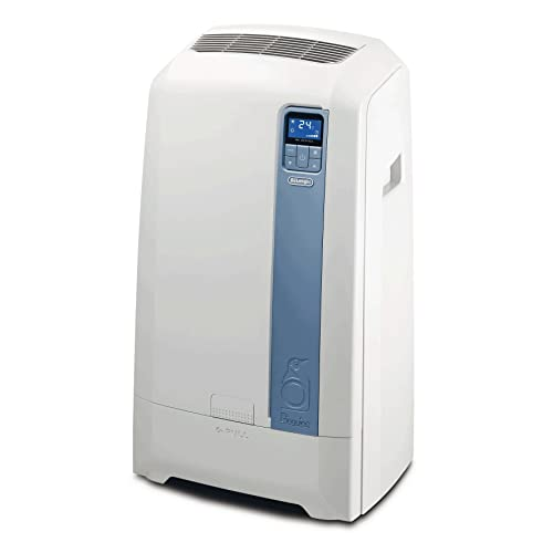 De'Longhi PAC WE112 Eco Climatiseur mobile (Technologie de vaporisation et d'aération, max. Puissance de refroidissement 3 kW/11500 BTU/h, fonction de déshumidification séparée adaptée aux pièces jusqu'à 100 m³) [Classe énergétique EEK A+].