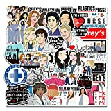 Grey's Anatomy Sticker Pack of 50 Stickers - Grey's Anatomy Merchandise Stickers for Laptops, Grey's Anatomy TV Show Laptop Stickers, Funny Stickers for Laptops, Computers, Hydro Flasks