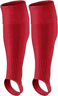 WISREMT Men Football Stirrup Socks Breathable Cozy Knee High Non-Slip Outdoor Sports Training Running Socks