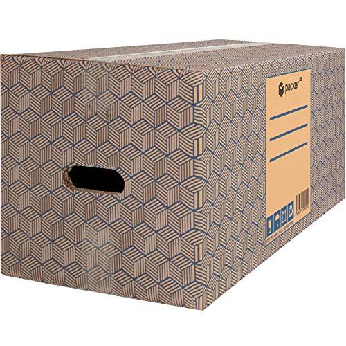 packer PRO Pack 12 Cajas Carton para Mudanzas y Almacenaje Ultra Resistentes con Asas 600x300x275mm