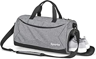 Rainleaf Sports Gym Bag Travel Duffle Dag for Men and Women with Wet Pocket & Shoes Compartment,35L Waterproof Lightweight Durable Small Duffle Bag Perfect for Workout Swim Sport Travel Weekend