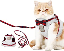 Cat Harness and Leash Set, Leash Adjustable Comfortable Soft Harness Jacket Vest, for Cats Puppy Safety Walk/Run