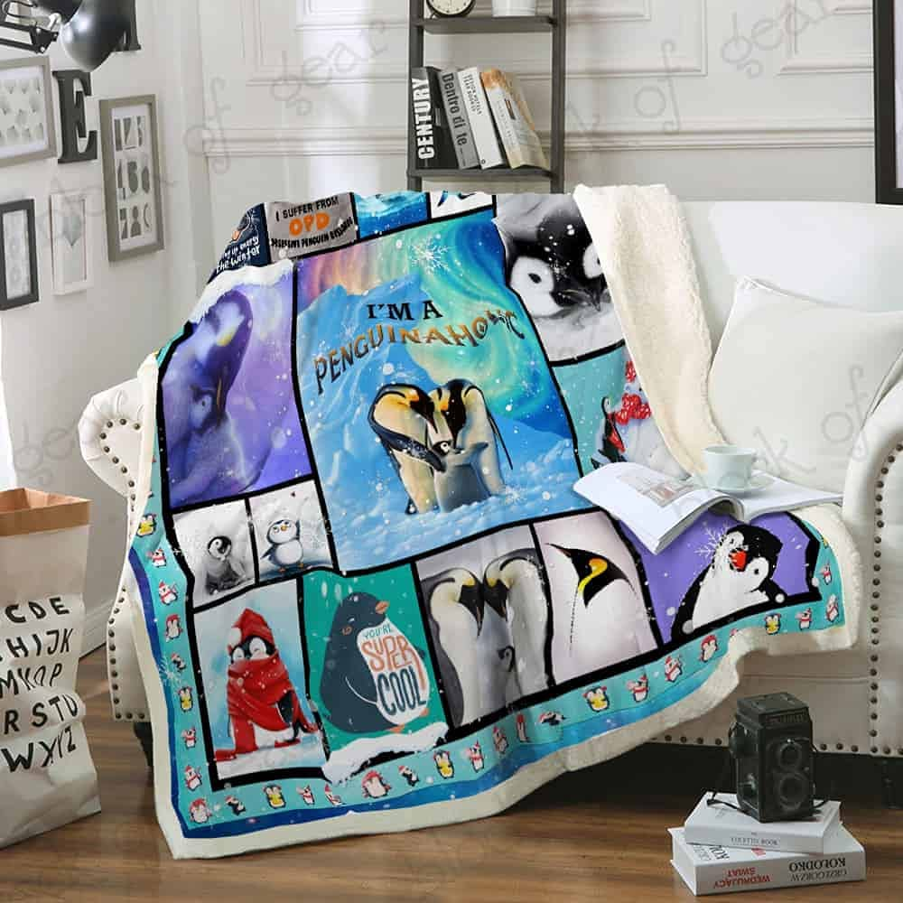 Penguinaholic Sofa Throw unisex Blanket Ultra Bedspread Soft Decor Home Ranking TOP9