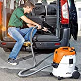 Stihl Plastic Electric Wet and Dry Vacuum Cleaner (SE 62, White and Orange)