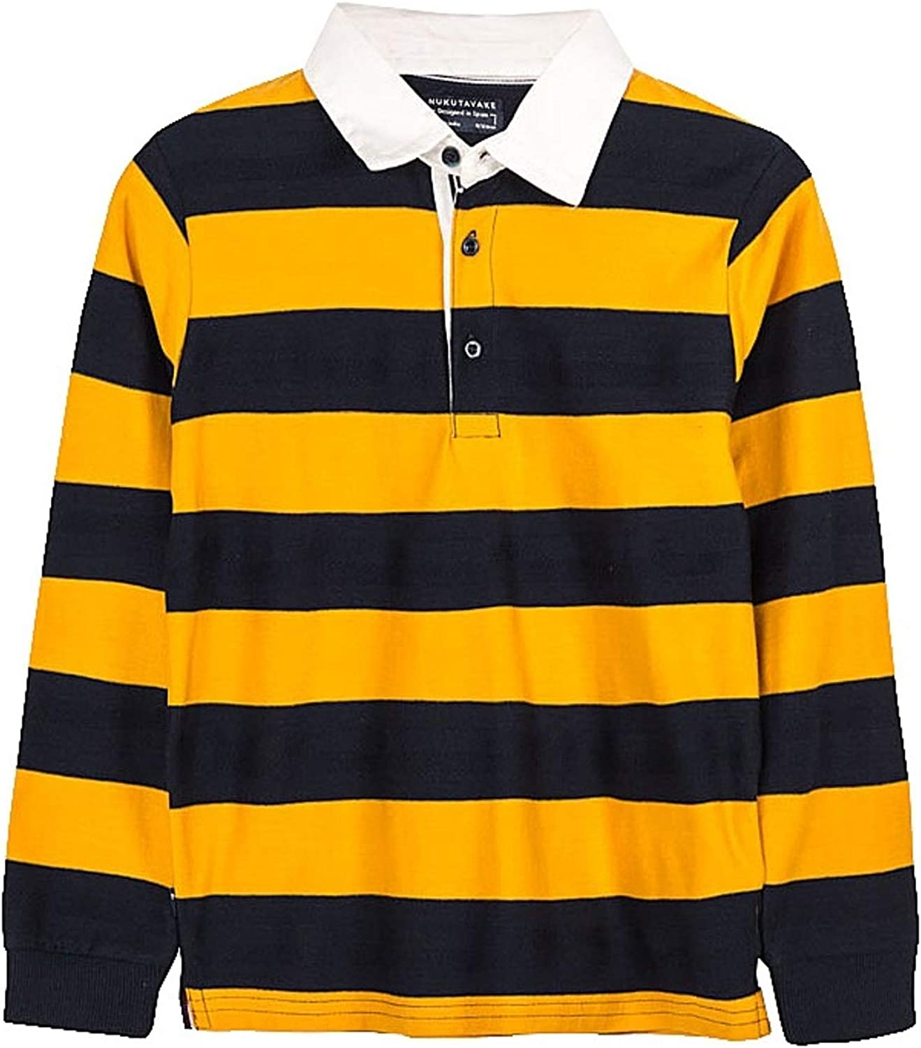 Mayoral - Striped Polo L/s for Boys - 7125, Wheat