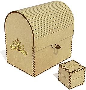 Azeeda  Princess Tiara  Treasure Chest Jewellery Box  TC00041426