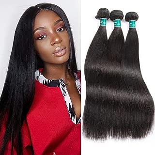 ALI GRACE Brazilian Straight Human Hair 3 Bundles 100% Remy Hair Weaves Natural (24''26''28'')