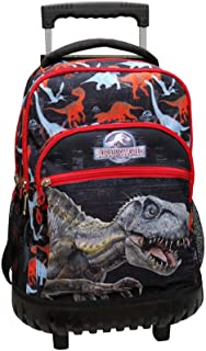 CYP BRANDS- Mochila Trolley Fijo Jurassic World, Multicolor