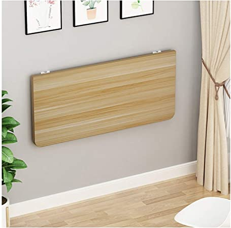 Mesa cocina plegable Escritorio Organizador pared, mesa plegable de madera con el metal soporte del marco, estable y fácil de instalar escritorio de la pared flotante, montado en la pared plegables de: