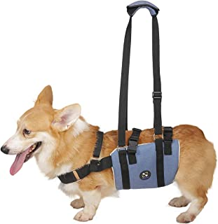 COODEO Dog Lift Sling, Pet Support & Rehabilitation Harness Canine Lift Soft Pad Adjustable Straps for Old, Disabled, Joint Injuries, Arthritis, Loss of Stability Rear Hind Legs Support
