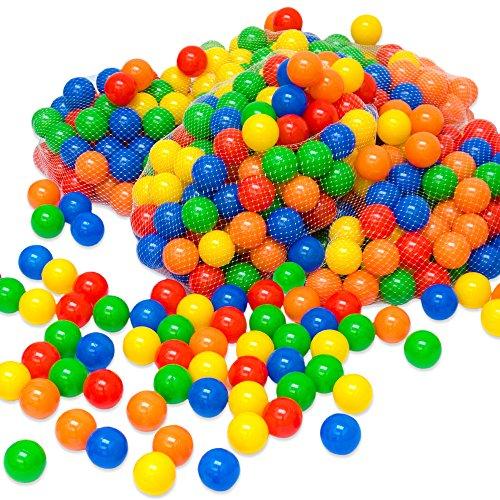 LittleTom 1200 Baby ballenbak ballen - 5.5cm ballenbad speelballen voor kinderen vanaf 0 jaar
