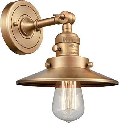 Innovations 203SW-BB-M4 1 Light Sconce with a High-Low-Off Switch, Brushed Brass