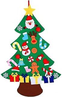 comprar comparacion XONOR Juego de árbol de Navidad de Fieltro DIY con Adornos para niños, decoración de Colgar en la Puerta de año Nuevo