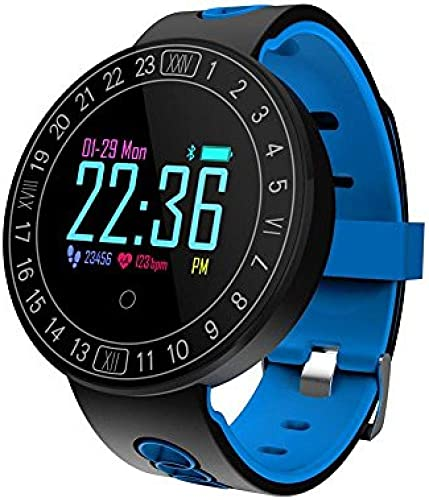 LIXIAOXIAO Q8 Cardiofréquencemètre Bracelet Tension artérielle Surveillance de l'oxygène dans Le Sang Affichage à l'écran Couleur Circulaire Smart Bracelet IP68 Fitness pour Android et iOS Smartphone