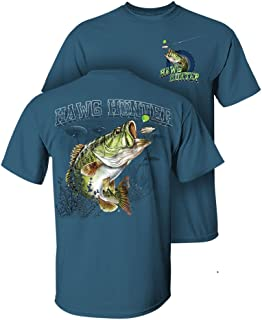 Follow the Action Largemouth Bass Hawg Hunter Two-Sided Short Sleeve Fishing T-Shirt