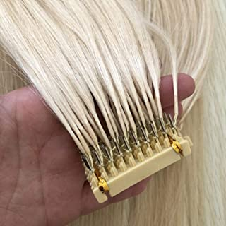 6D extension human hair for hair extensions 6D machine Quick No track groove connection to the head hair real human hair 10 rows,Blonde,A28inches