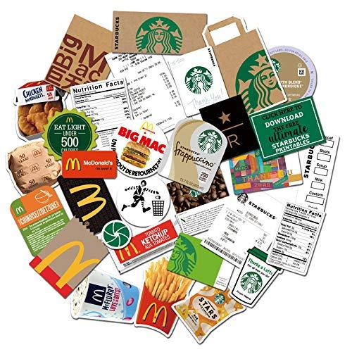 YMSD Etiquetas engomadas del café Maleta Portátil Personalidad Decoración Creativa Impermeable Pvc Pegatinas