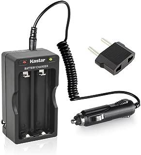 Kastar 18650 Intelligent Rapid Charger W/Car Charger for LG HG2 HE2 HE4 HD2, Samsung 25R 26F 30Q, Panasonic NCR18650B NCR18650BE NCR18650PF, Sony VTC3 VTC4 VTC5, Sanyo High Drain 10A, 20A, 30A, 35A