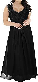 Women's Deep- V Neck Sleeveless Vintage Plus Size Bridesmaid Formal Maxi Dress