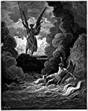 Satan and Beelzebub, Gustave Dore, Paradise Lost (1870) Poster 24x36 inches