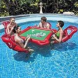 Gpzj Juego de Mesa de Juego Inflable de Agua con colchón de Aire con 4 sillas, Piscina Ideal, Juguete, Piscina, Fiesta, Juegos de póker para Adultos