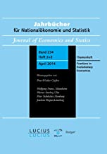 Frontiers in Evolutionary Economics: Themenheft 2+3/Bd. 234(2014) Jahrbucher fur Nationaloekonomie und Statistik