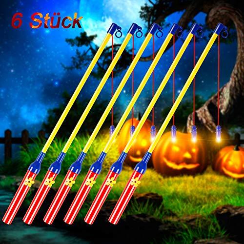 6pack Kinder Weihnachten 3 Pack LED Laternenstab f/ür Halloween Halloween Laternenstab Partys