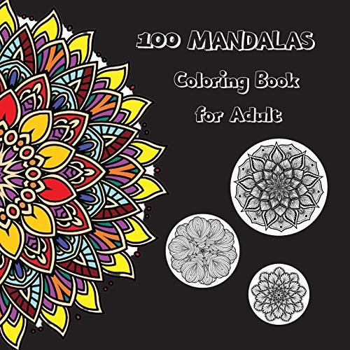 100 Mandalas Adult Coloring Books