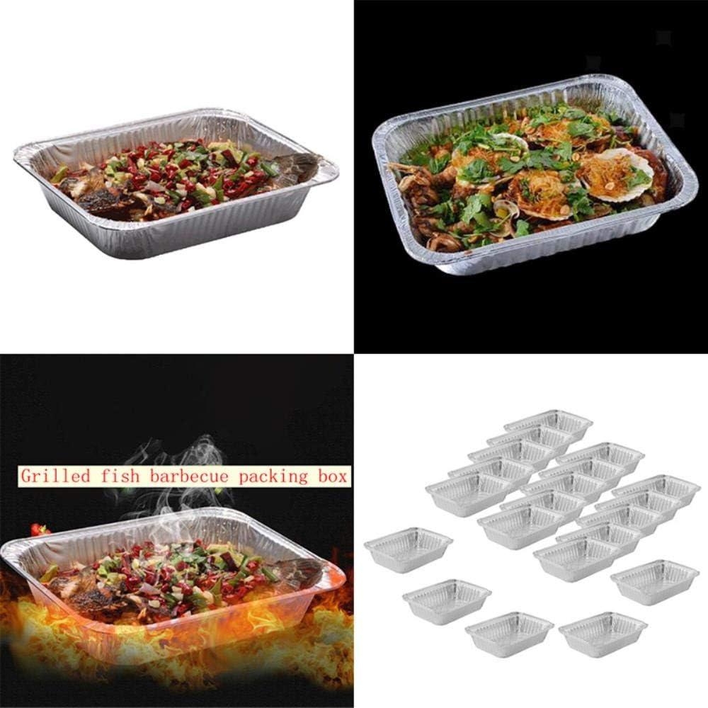 MNHI 30 Pcs BBQ Poêles À Gouttes en Aluminium Feuille Grill Catch Tray Recyclable Creative Pans pour La Cuisine Indirecte Cuisine Accessoires en Gros, 30 pcs 10pcs