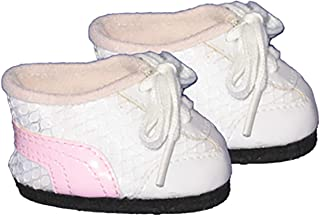 """White/Pink Tennis Shoes Clothes fits Most 12"""" Snuggl'ems, 8"""" - 10"""" Stuffed Animal Kits & Most Webkinz & Shining Star"""