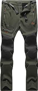 BenBoy Men's Outdoor Waterproof Windproof Fleece Cargo Snow Ski Hiking Pants