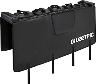LEETPIC Tailgate Bike Pads, Tailgate Bike Cover for Mid-Size Truck 54' Wide Truck Bed MTB Carrier - Great for Mountain Bikes - Size M (5 Bikes) (Reinforced)