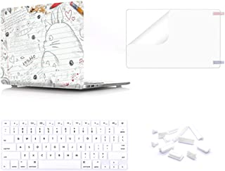 Cubierta de teclado de la carcasa rígida de la PC de plástico MMDW con protector de pantalla y enchufe a prueba de polvo para MacBook Air de 13 pulgadas (modelos: A1369 y A1466), dibujo Totoro