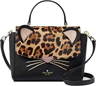Kate Spade Leopard Run Wild Kerrie Crossbody Handbag Black