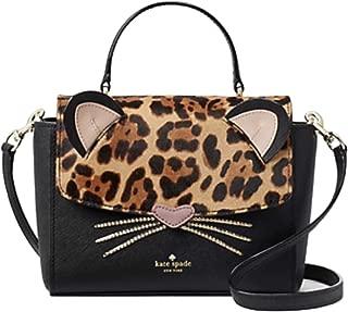Kate Spade Leopard Run Wild Kerrie Crossbody Handbag Black