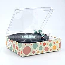 LP&No.1 Modern Style Vinyl Record Player with Stereo Speaker,3 Speed Turntable ,Christmas Birthdays Gift Ideas for Women Teens Girls Vinyl Fans Orange