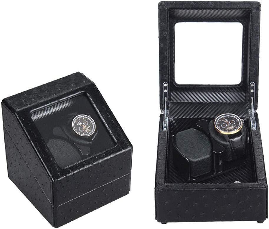 Outlet sale feature MZP Mini Factory outlet Single Watch Winder Leather Fiber PU InteriorAn Carbon