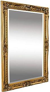 Espejo Pared - Estilo Barroco - Shabby Chic Espejo Grande 90x60 cm - Oro