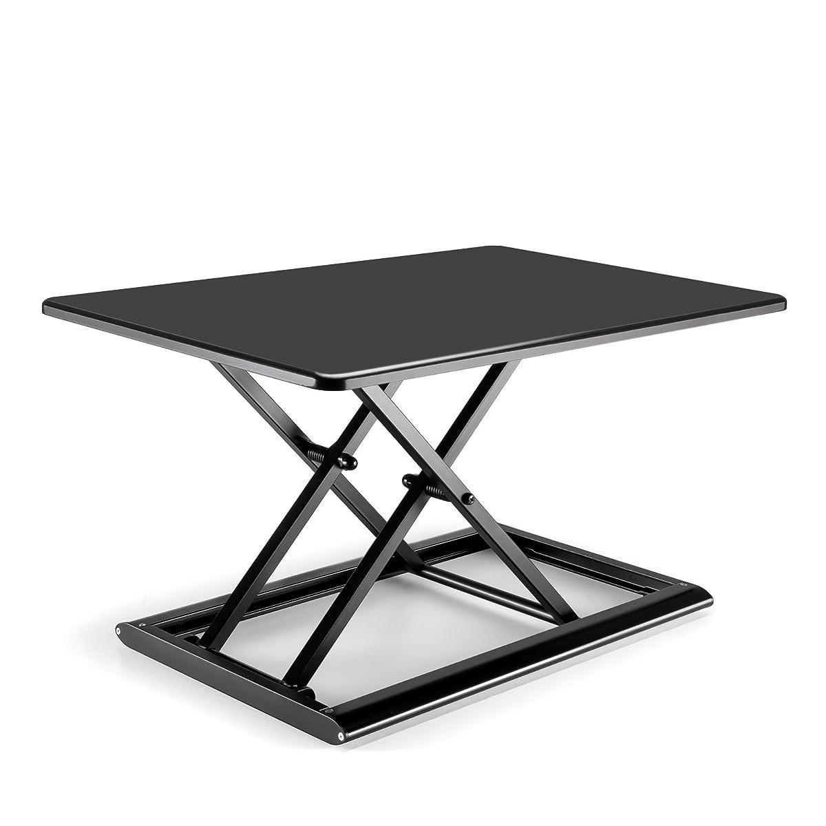 ガウン献身アボートエメゾ 昇降式テーブル スタンディングデスク 30 x 20インチ 手動式の調整 座位立位両用 【女性にも人気 軽くて使いやすい机上テーブル】