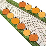 Big Dot of Happiness Pumpkin Patch - Pumpkin Lawn Decoration Signs - Outdoor Fall, Halloween or Thanksgiving Yard Decorations - 10 Piece