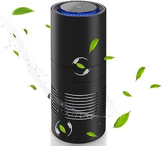 Big-fun 空気清浄機 車載空気清浄機 空気清浄器 プラズマクラスター イオン発生器 UVライト 除菌消臭 静音 自動オフ機能 ミニ 車載/卓上 空気の塵/花粉/タバコの煙/PM2.5/ホコリを分解 USBケーブル付き 日本語取扱説明書付き HEPAフィルター アロマディフューザー (一代)