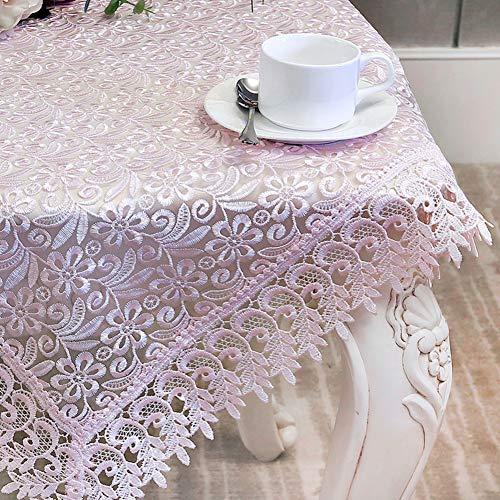 JiaQi Klassisch Spitze Tischdecken Mit Eleganten Floralen Mustern,Overlay Vintage Bestickt Tabelle Tuch,für Parteien Hochzeiten Esstische- 150x210cm(59x83inch)