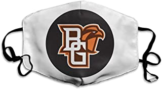 Unisex Reusable Nose Dust Face Mask Cover with Bowling Bgsu Green State Dust Mouth Cover with Adjustable Earloops - Made in USA
