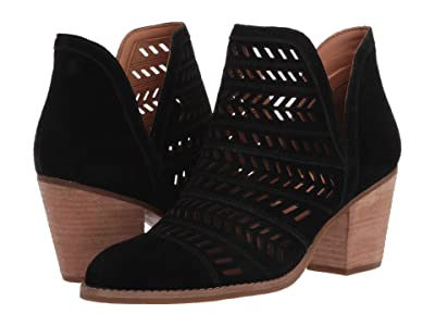 FRYE AND CO. Allister Feather Bootie (Black Suede) Women
