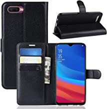 Phone Case for OPPO AX5S / A5S Litchi Texture Wallet Leather Stand Protective Case TONWIN (Color : Black)