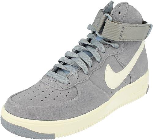 NIKE Air Force 1 Ultraforce Hi Pour des hommes Trainers 880854 paniers chaussures (UK 7 US 8 EU 41, Glacier gris Summit blanc 004)