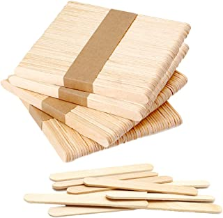 "200 PCS Craft Sticks Popsicle Ice Pop Ice Cream Sticks Natural Wooden 4-1/2"" Length Treat Sticks Great for DIY Craft Creat..."