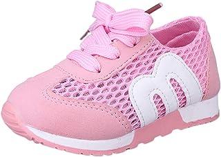 YanHoo Bebé recién Nacido Zapatos Deportivos Carta Malla Zapatos Transpirables niños Zapatos para Correr Zapatos de bebé Zapatos Deportivos Casuales Zapatos Deportivos al Aire Libre